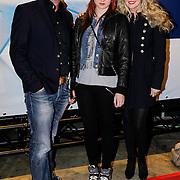 NLD/Utrecht/20121018- Premiere Speed, Brigitte Nijman, partner Robert Veuger en stiefdochter Merel