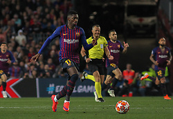May 1, 2019 - Barcelona, Barcelona, Spain - Dembele of Barcelona in action during UEFA Champions League football match, between Barcelona and Liverpool, May 01th, in Camp Nou stadium in Barcelona, Spain. (Credit Image: © AFP7 via ZUMA Wire)