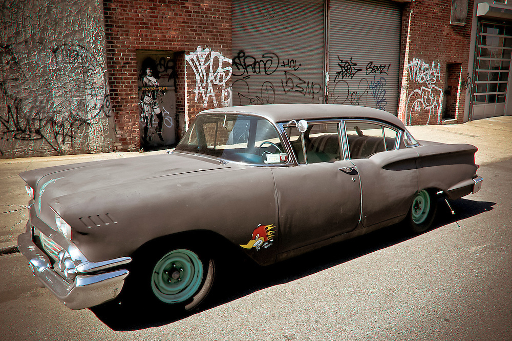 Old Chevrolet parked on a street of Williamsburg, Brooklyn, New York, 2008.
