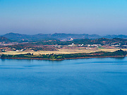 PAJU, GYEONGGI, SOUTH KOREA: The southern most point in North Korea as seen from Odusan Unification Observatory, a South Korean tourist attraction that overlooks the DMZ. Tourism to the Korean DeMilitarized Zone (DMZ) has increased as the pace of talks between South Korea, North Korea and the United States has increased. Some tours are sold out days in advance.      PHOTO BY JACK KURTZ