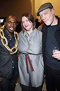 l to r: Derrick Addams, Ellen Hadigan and Bill Adler  at The First Annual 2009 Gold Rush Awards held at the Red Bull Space on February 11, 2009 in New York City..Rush Arts Gallery (Chelsea, NY) and Corridor Gallery (Clinton Hill, Brooklyn) founded 1996 are core programs within the Rush Philanthropic Arts Foundation (non-profit) dedicated to providing urban youth with significant exposure and access to the arts, as well as providing exhibition opportunities to artists.  The exhibitions and education programs of the galleries are also sponsored in part by a grant from the New York State Council for the Arts and are free and open to the public..