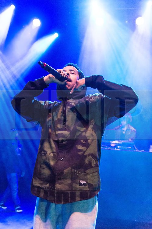 """© Licensed to London News Pictures. 03/06/2015. London, UK.   Earl Sweatshirt performing live at Shepherds Bush Empire.   Earl Sweatshirt, real name Thebe Neruda Kgositsile, is an American rapper-producer and former member of the Los Angeles-based hip hop collective Odd Future.  He released highly acclaimed second album in March 2015 – """"I Don't Like Shit, I Don't Go Outside: An Album By Earl Sweatshirt"""" – with 4 & 5 star reviews across publications including the Observer, Mojo, The Guardian, Spin, and others.  Photo credit : Richard Isaac/LNP"""