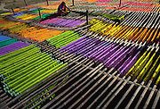 Sarees and other garments are woven, bleached then dyed before being printed in the town of Pali, before being distributed all over the subcontinent. It is Jodhpur's nearest neighbour across the desert and was an important source of industry until the government closed it down due to the chronic pollution from the dying process into the groundwater.
