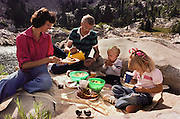 USA_FAM_05_xs.Ralph Chipman, an accountant, on a family picnic with his wife and two young kids at Lake Mary, near Salt Lake City, Utah..MODEL RELEASED..