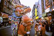 Chinatown, Dragon Dance, Manhattan, New York