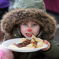 Grace Keena enjoying the crepes on offer at the Treacys West County Winter Wonderland on saturday afternoon