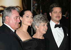 December 8, 2008 - Westwood, CA, U.S. - 08 December 2008 - Westwood, California - Brad Pitt, Angelina Jolie and parents William Alvin Pitt and Jane Pitt. ''The Curious Case of Benjamin Button'' Los Angeles Premiere held at Mann's Village Theatre. Photo Credit: Michael Jade/AdMedia (Credit Image: © Michael Jade/AdMedia via ZUMA Wire)