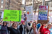 San Francisco, USA. 19th January, 2019. At the Women's March San Francisco, women marchers anti-Trump protest signs. Credit: Shelly Rivoli/Alamy Live News