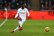 Nathan Dyer of Swansea city in action. Premier league match, Swansea city v West Bromwich Albion at the Liberty Stadium in Swansea, South Wales on Saturday 9th December 2017.<br /> pic by  Andrew Orchard, Andrew Orchard sports photography.