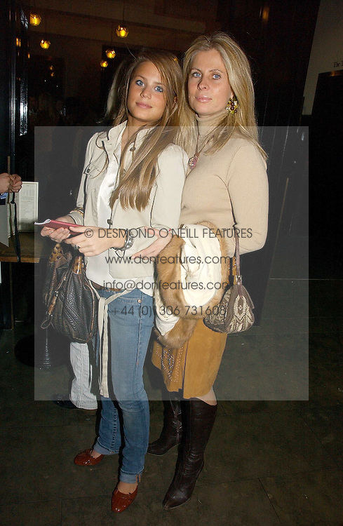 Left to right, MISS IRENE FORTE and her mother LADY FORTE at the opening of The National Cafe and an exclusive private view of the National Gallery's Valazquez Exhibition, at The National Gallery, Trafalgar Square, London on 26th October 2006.<br /><br />NON EXCLUSIVE - WORLD RIGHTS