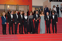 Francois Kraus, Michael Cohen, Fanny Ardant, Doria Tillier, Nicolas Bedos and Daniel Auteuil arriving on the red carpet of 'La Belle Epoque' screening held at the Palais Des Festivals in Cannes, France on May 20, 2019 as part of the 72th Cannes Film Festival. Photo by Nicolas Genin/ABACAPRESS.COM