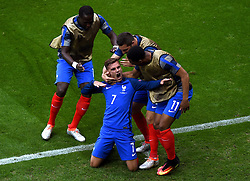Antoine Griezmann of France celebrates his first goal of the game - Mandatory by-line: Joe Meredith/JMP - 26/06/2016 - FOOTBALL - Stade de Lyon - Lyon, France - France v Republic of Ireland - UEFA European Championship Round of 16