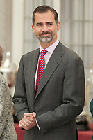 King Felipe VI of Spain attends the 2013 Sports National Awards ceremony at El Pardo palace in Madrid, Spain. December 03, 2014. (ALTERPHOTOS/Victor Blanco)