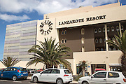 Be Live Hotels Lanzarote Resort hotel sign and buildings, Lanzarote, Canary islands, Spain