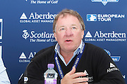The Aberdeen Asset Management Scottish Open Golf Championship 2012 At Castle Stuart Golf Links..Final Round Saturday 14-07-12.. .Martin Gilbert of Aberdeen Asset Managment..Press conference on th Future of the Scottish Open,  with First Minster Alex Salmond,  George O' Grady of The European Tour, Martin Gilbert Chief Exec of Aberdeen Asset management and Roger Conrhill of Aberdeen Asset Managent,, during the FinalRound of The Aberdeen Asset Management Scottish Open Golf Championship 2012 At Castle Stuart Golf Links. The event is part of the European Tour Order of Merit and the Race to Dubai....At Castle Stuart Golf Links, Inverness, Scotland...Picture Mark Davison/ ProLens PhotoAgency/ PLPA.Saturday 14th July 2012.