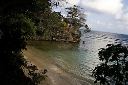 A small beach that the owners of the Geejam are developing a short walk from the hotel. The Geejam is a luxury boutique hotel with a state of the art recording studio that has attracted famous musicians to make their albums.