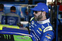 November 11, 2017 - Avondale, Arizona, United States of America - November 11, 2017 - Avondale, Arizona, USA: Jimmie Johnson (48) hangs out in the garage during practice for the Can-Am 500(k) at Phoenix Raceway in Avondale, Arizona. (Credit Image: © Justin R. Noe Asp Inc/ASP via ZUMA Wire)