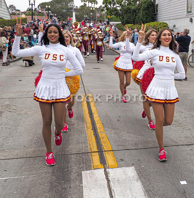USC Cheerleaders and Marching Band at the Annual Balboa Island Parade