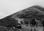 Every year, up to 30,000 Catholic Pilgrims climb Ireland's  Croagh Patrick Mountain on Reek Sunday, the last Sunday in July.