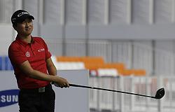 October 19, 2017 - Seogwipo, Jeju Island, South Korea - Jeunghun Wang of South Korea action on the 10th tee during an PGA TOUR The CJ CUP NINE BRIDGE at Nine Bridge CC in Jeju, South Korea. (Credit Image: © Ryu Seung Il via ZUMA Wire)