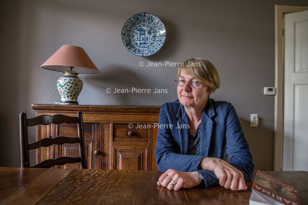 Nederland, Leiden, 13 april 2017.<br />Auteur Nynke Smits heeft een historische roman over Sabina en Keizer Hadrianus  geschreven<br /><br /><br />Foto: Jean-Pierre Jans