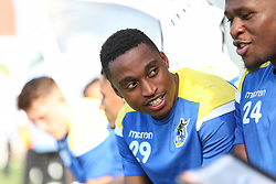 Victor Adeboyejo of Bristol Rovers in the dugout before kick off - Mandatory by-line: Arron Gent/JMP - 21/09/2019 - FOOTBALL - Cherry Red Records Stadium - Kingston upon Thames, England - AFC Wimbledon v Bristol Rovers - Sky Bet League One