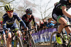 Trixi Worrack fights up the final metres of Kemmelberg at Women's Gent Wevelgem 2017. A 145 km road race on March 26th 2017, from Boezinge to Wevelgem, Belgium. (Photo by Sean Robinson/Velofocus)