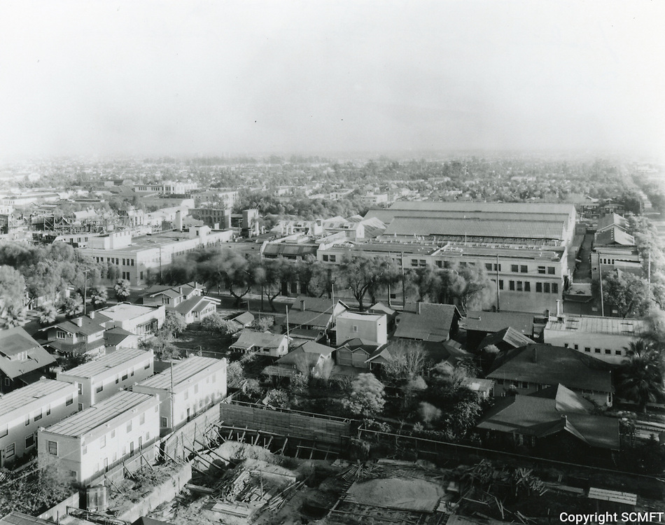 1924 Aerial photo of Famous Players Lasky Studios