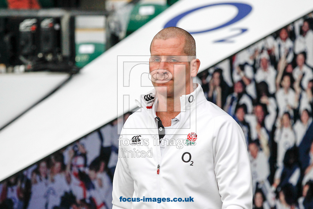 England head coach Stuart Lancaster looks on during the RBS 6 Nations match at Twickenham Stadium, Twickenham<br /> Picture by Andrew Tobin/Focus Images Ltd +44 7710 761829<br /> 21/03/2015