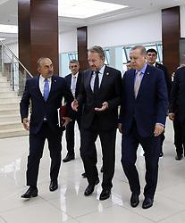 September 10, 2017 - Astana, Türkiye - Turkish President Recep Tayyip Erdoganand Bosnia Herzegova President Bakir Izzetbegovic; during The First Summit on Science and Technology of the Organisation of Islamic Cooperation, Astana, Kazakhistan, September 11th - 12th, 2017. (Credit Image: © Depo Photos via ZUMA Wire)
