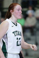 12 December 2015:  Maddie Merritt during an NCAA women's basketball game between the Wisconsin Stevens Point Pointers and the Illinois Wesleyan Titans in Shirk Center, Bloomington IL