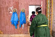 Door decorations at Erdene Zuu monestry Mongolia