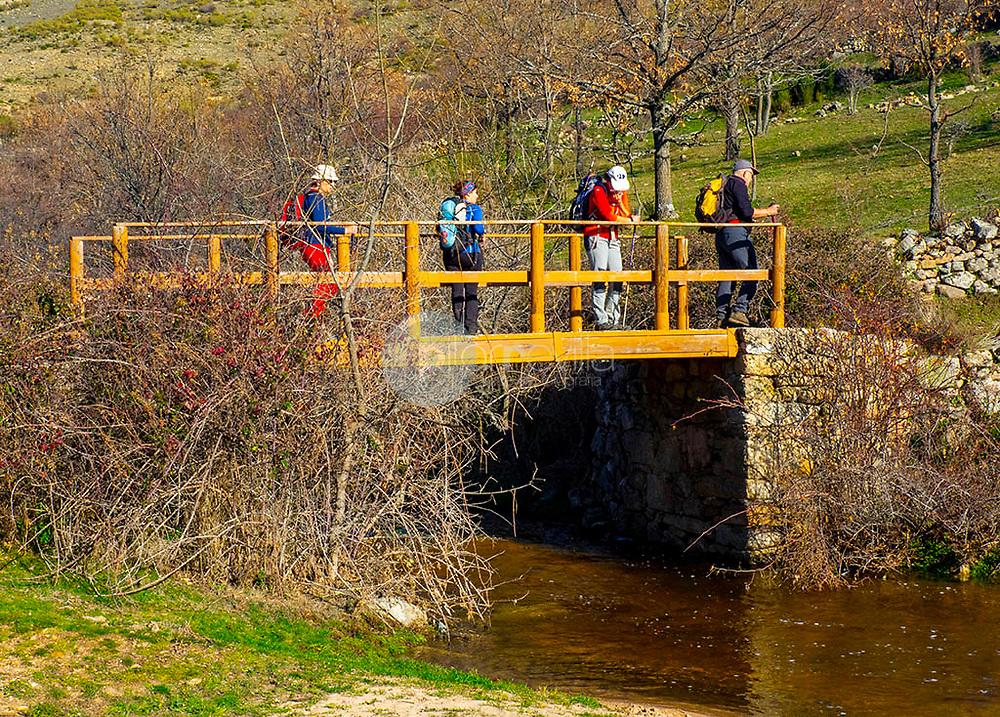 senderismo, puente  arroyo de las herreras