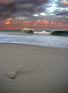 Christmas Day at Nauset Beach. I had watched the clouds move for an hour, hoping that this lighting would occur.