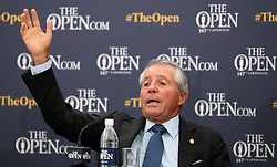 Gary Player during a press conference on preview day four of The Open Championship 2018 at Carnoustie Golf Links, Angus. PRESS ASSOCIATION Photo. Picture date: Wednesday July 18, 2018. See PA story GOLF Open. Photo credit should read: Jane Barlow/PA Wire. RESTRICTIONS: Editorial use only. No commercial use. Still image use only. The Open Championship logo and clear link to The Open website (TheOpen.com) to be included on website publishing.