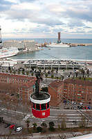 view from montjuic park of Barcelona by Christopher Holt