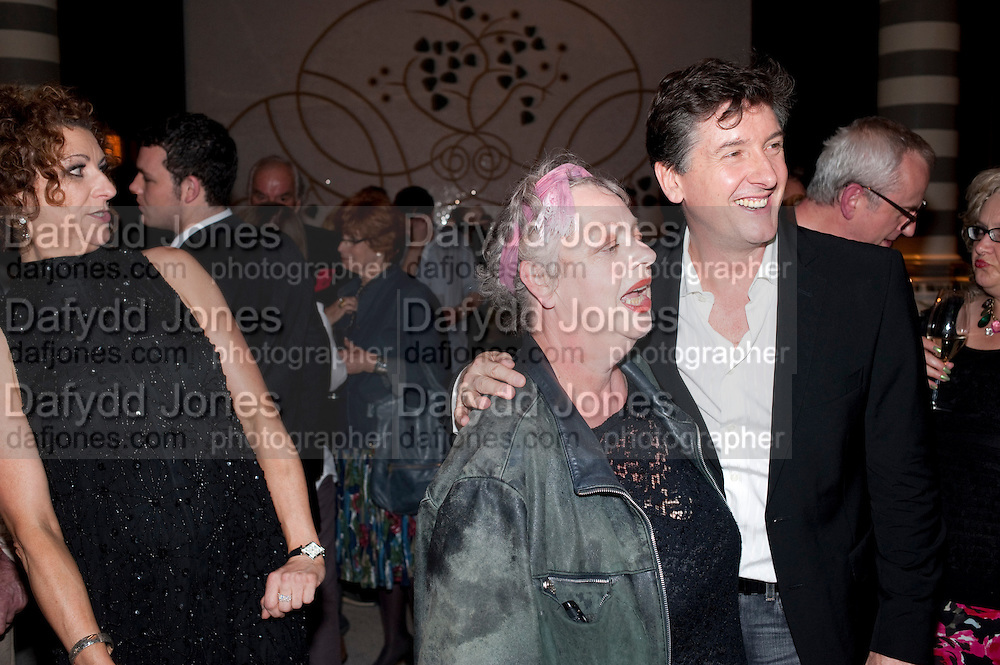 KIM ISMAY; JO BRAND, Massimo's restaurant at the Corinthia Hotel, Whitehall  host the after party  for 'Claire Rayner's benefit show' 5 June 2011. <br /> <br />  , -DO NOT ARCHIVE-© Copyright Photograph by Dafydd Jones. 248 Clapham Rd. London SW9 0PZ. Tel 0207 820 0771. www.dafjones.com.