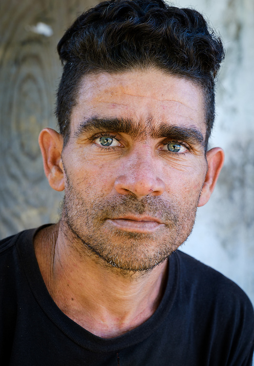 BARACOA, CUBA - CIRCA JANUARY 2020: Portrait of young man in Boca de Yumuri, a hamlet close to Baracoa in Cuba.