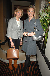 Left to right, LADY ALEXANDRA SPENCER-CHURCHILL and SAM SOPWITH at a lunch hosted by Ralph Lauren to present their Spring 2007 collection in support of the Serpentine Gallery's Education Programme, held at Fifty, 50 St.James's Street, London SW1 on 20th March 2007.<br /><br />NON EXCLUSIVE - WORLD RIGHTS