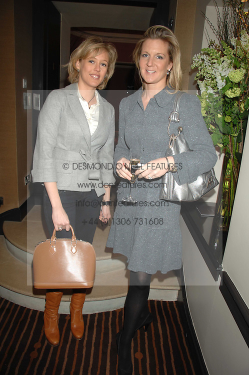 Left to right, LADY ALEXANDRA SPENCER-CHURCHILL and SAM SOPWITH at a lunch hosted by Ralph Lauren to present their Spring 2007 collection in support of the Serpentine Gallery's Education Programme, held at Fifty, 50 St.James's Street, London SW1 on 20th March 2007.<br />