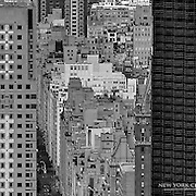 A black and white look at the highrise density of New York's Upper East Side