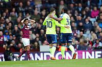 Aston Villa v Derby County - Sky Bet Championship<br /> BIRMINGHAM, ENGLAND - APRIL 28 :  Cameron Jerome, of Derby County, celebrates after scoring, along with Tom Lawrence