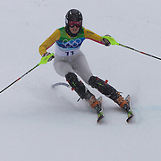 Winter Olympics, Vancouver, 2010.Christina Geiger, Germany, in action in the Alpine Skiing Ladies Slalom at Whistler Creekside, Whistler, during the Vancouver Winter Olympics. 24th February 2010. Photo Tim Clayton