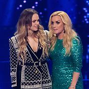 NLD/Hilversum/20180216 - Finale The voice of Holland 2018, Demi van Wijngaarden en Samantha Steenwijk
