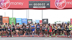 April 28, 2019 - London, London, United Kingdom - London Marathon 2019...This year is the 39th London Marathon with over 41,000 runners crossing the start line at Greenwich. The marathon has also made history this year with an estimated £1 Billion raised for various charitable organisations. (Credit Image: © Pete Maclaine/i-Images via ZUMA Press)