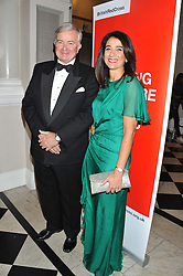 SIR GAVYN ARTHUR former Lord Mayor of the City of London and MONICA HUNT Chairman of the Ball at Brazil Now a gala ball in aid of the Red Cross held at the Grand Connaught Rooms, 61-65 Queen Street, London on 6th November 2012.