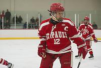 SPS boys varsity Hockey with Belmont Hill.  ©2017 Karen Bobotas Photographer