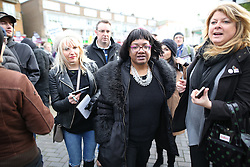 © Licensed to London News Pictures . 30/01/2016 . Dover , UK . Labour MP DIANE ABBOTT attends  an anti-fascists demo, close to the port of Dover in Kent . Photo credit : Joel Goodman/LNP