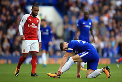 17 September 2017 -  Premier League - Chelsea v Arsenal - Gary Cahill of Chelsea clutches his ankle - Photo: Marc Atkins/Offside