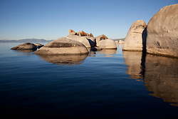 """""""Boulders at Lake Tahoe 5"""" - These boulders were photographed from a kayak early in the morning at Lake Tahoe, near Speed Boat Beach."""
